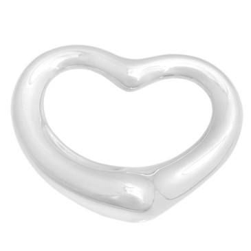 Tiffany & Co. Sterling Silver 27mm Open Heart Pendant