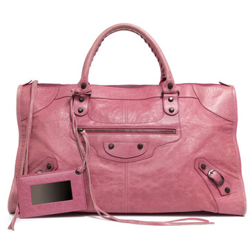 fc3bb5956891 Balenciaga Anthracite Lambskin Giant 21 Rose Gold Work Bag - modaselle