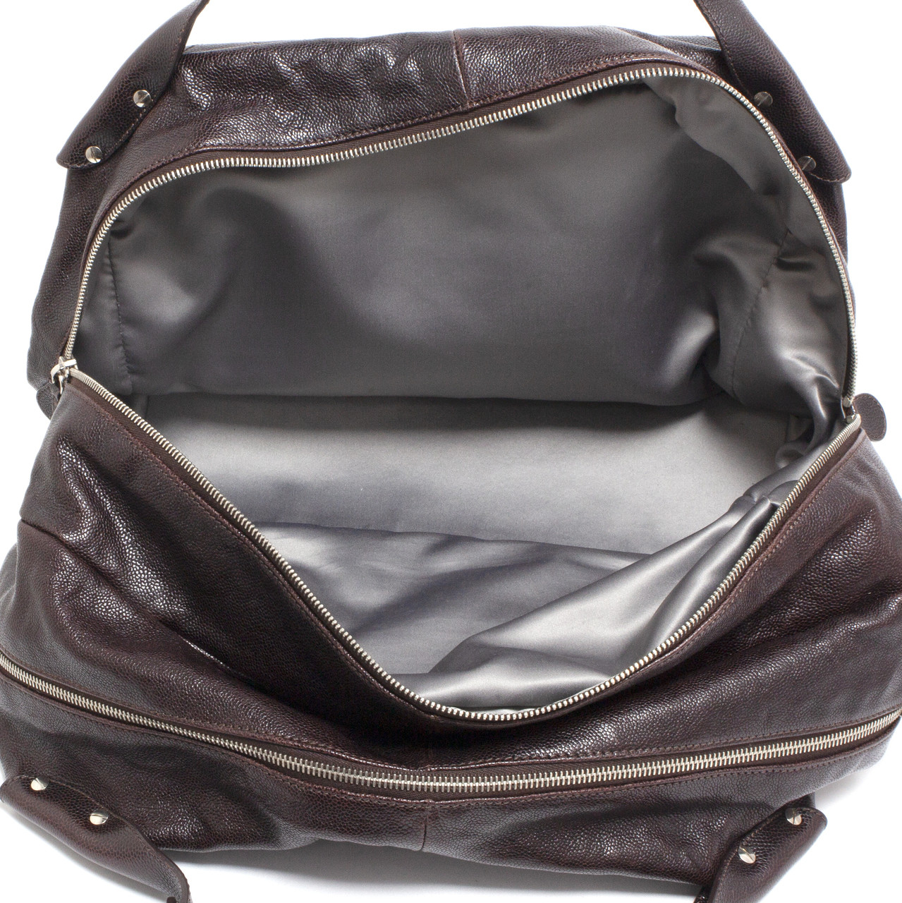 d8fd99def0985e Chanel Brown Glazed Caviar Pocket in the City Travel Bag - modaselle