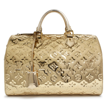 Louis Vuitton Gold Monogram Miroir Speedy 35
