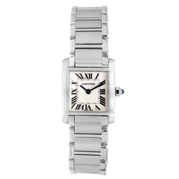 Cartier Stainless Steel Tank Francaise Ladies Watch 2384