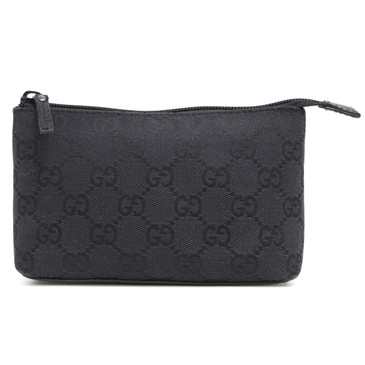 Gucci Black GG Canvas Pouch