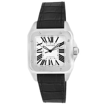 Cartier Stainless Steel Santos 100 Large Automatic Watch W20073X8
