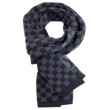 Louis Vuitton Wool Petit Damier Graphite Scarf