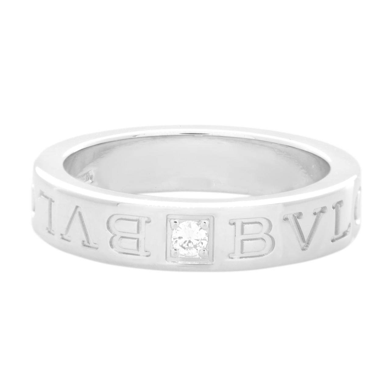 1eac5568f Bvlgari 18K White Gold Diamond Band Ring - modaselle