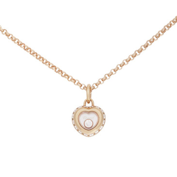 Chopard 18K Rose Gold & Diamond Mini Heart Pendant