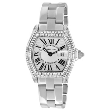 Cartier Stainless Steel Roadster Quartz Watch