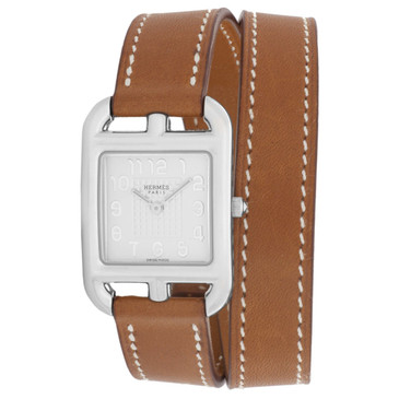 Hermes Stainless Steel Cape Cod Double Tour 23mm Watch