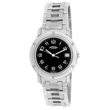 Hermes Stainless Steel 36mm Clipper Quartz Watch CL6.710