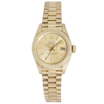 Rolex 18K Yellow Gold Ladies Datejust President 69178
