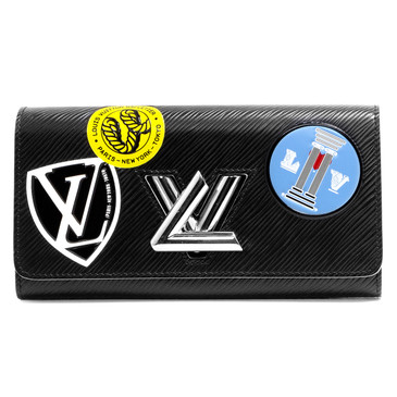Louis Vuitton Black Epi World Tour Twist Wallet