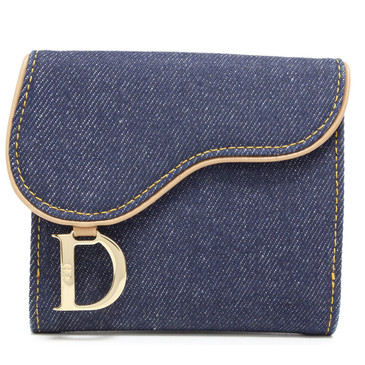 Christian Dior Denim Saddle Wallet