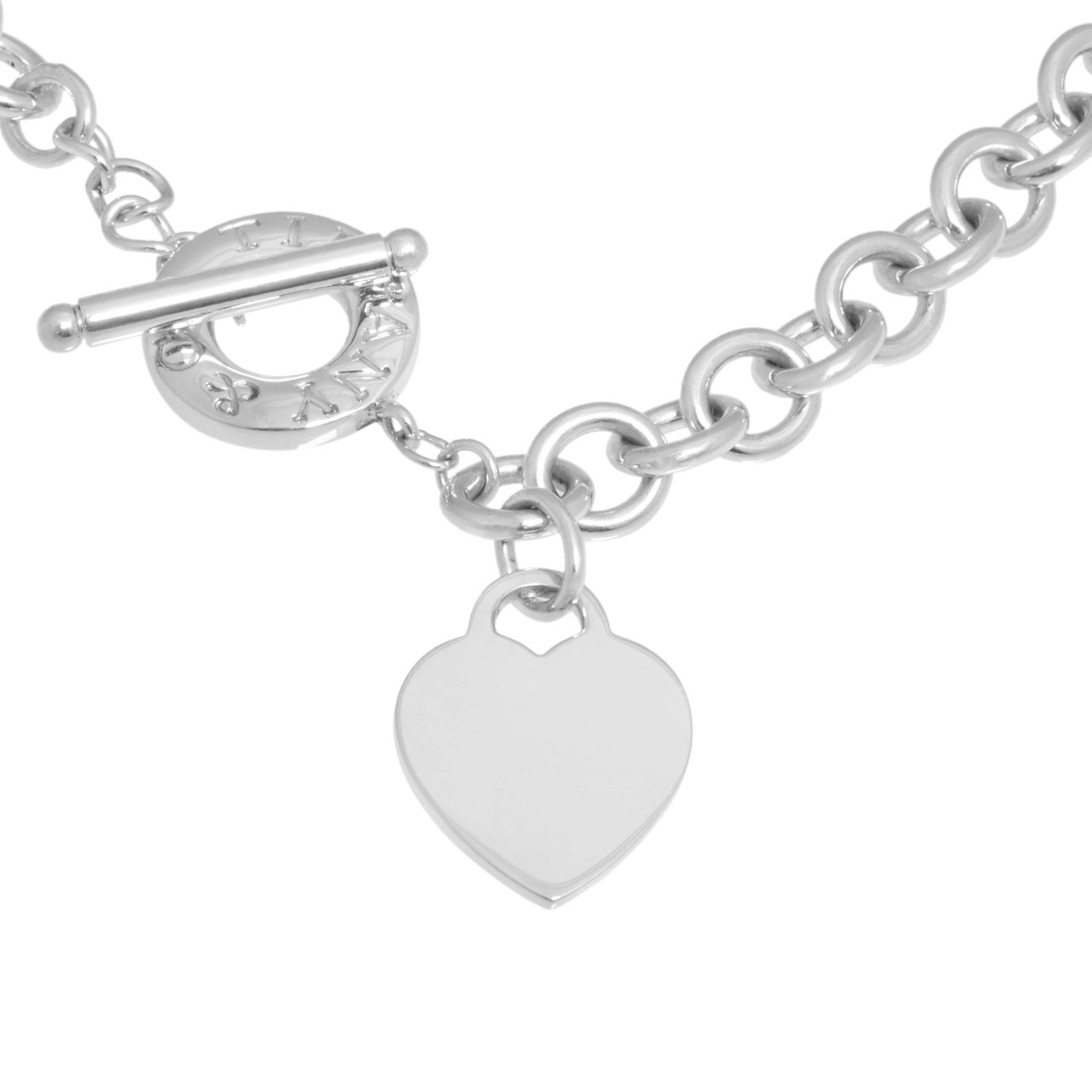 25010227ac5b54 Tiffany & Co. Sterling Silver Heart Toggle Necklace - modaselle