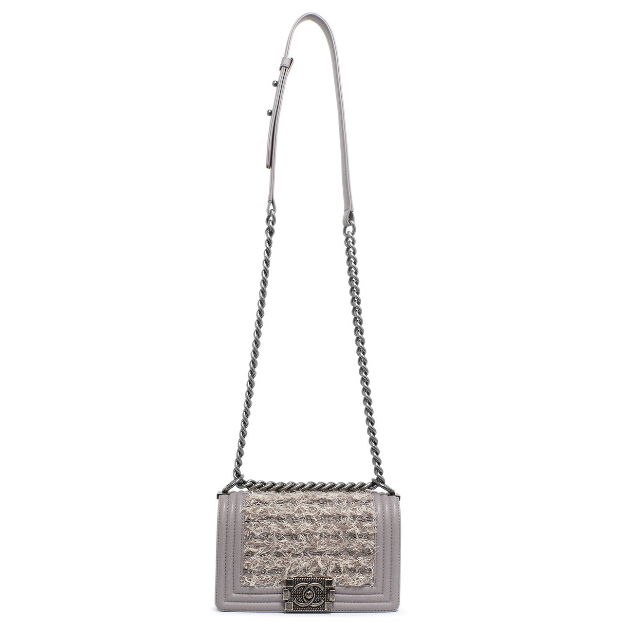 5190903ac093 Chanel Mauve Lambskin & Tweed Small Boy Bag - modaselle