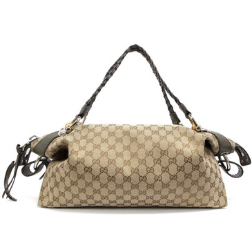 Gucci Monogram Bamboo Bar Medium Tote