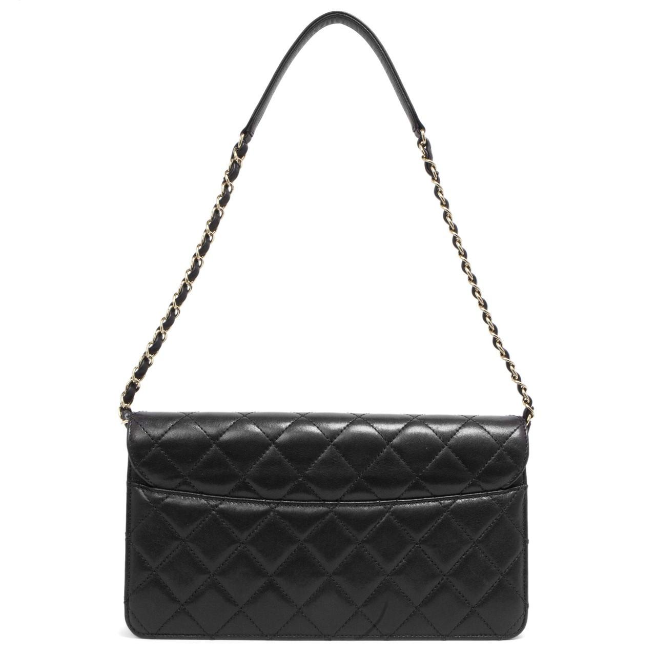 05b9aef7105a Chanel Black Sheepskin Beauty Lock Flap Bag - modaselle
