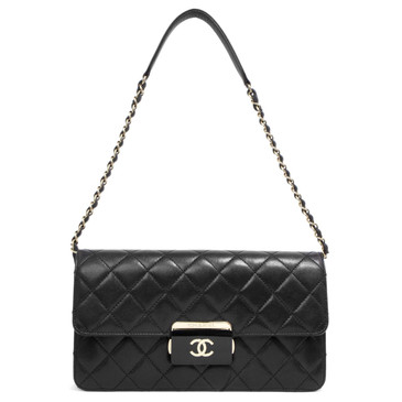 Chanel Black Sheepskin Beauty Lock Flap Bag