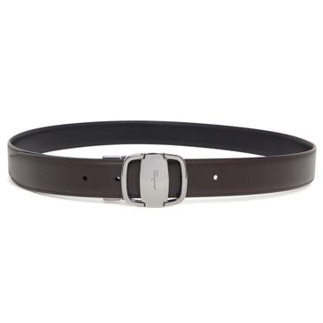 Salvator Ferragamo Black/Brown Calfskin Reversible Belt