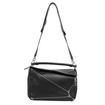 Loewe Black Medium Puzzle Zips Bag