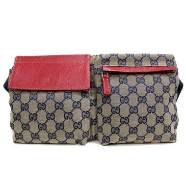 Gucci Red/Blue Monogram Belt Bag