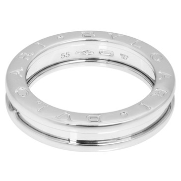 Bvlgari 18K White Gold B.Zero1 One  Band  Ring