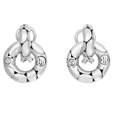 John Hardy Sterling Silver Kali Door Knocker Earrings