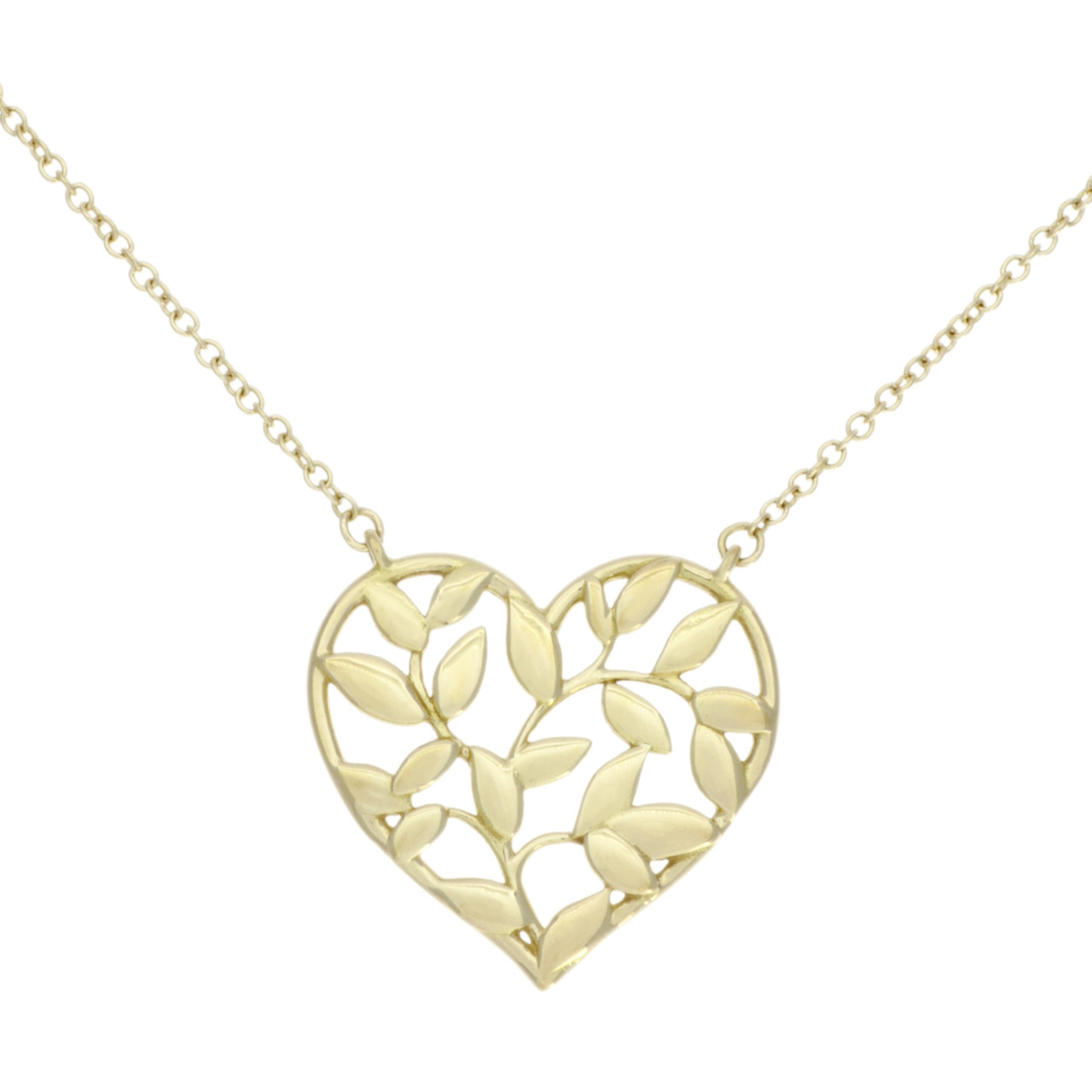 ca6bc94ee Tiffany & Co. 18K Yellow Gold Paloma Picasso Olive Leaf Heart ...