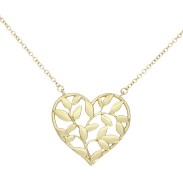 Tiffany & Co. 18K Yellow Gold Paloma Picasso Olive Leaf Heart Pendant