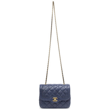 Chanel Blue Caviar Mini Square Flap