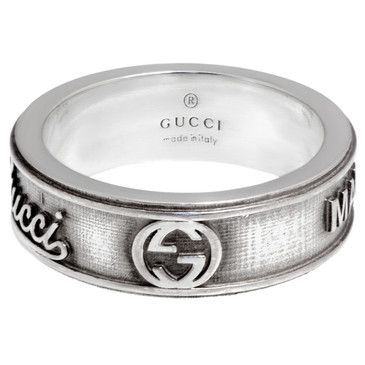Gucci Sterling Silver GG Craft Ring