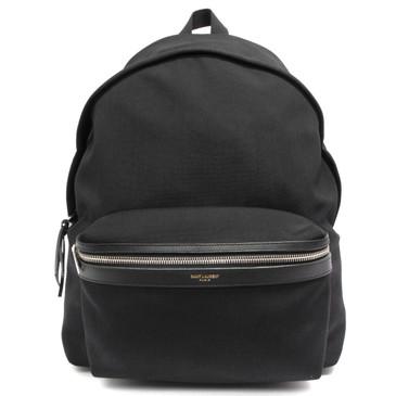 Saint Laurent Black Canvas Hunting  Backpack