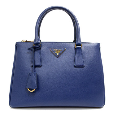 Prada Bluette Saffiano Lux Small Galleria Double Zip Tote