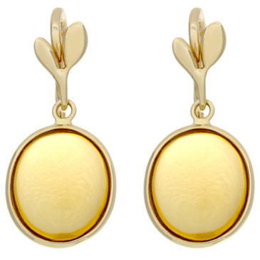 Tiffany & Co. 18K & Citrine Paloma Picasso Olive Leaf Drop Earrings