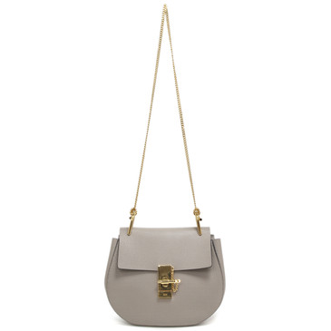 Chloe Motty Grey Lambskin Small Drew Crossbody