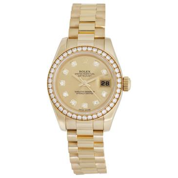 Rolex 18K Yellow Gold & Diamond Ladies President Datejust 179138