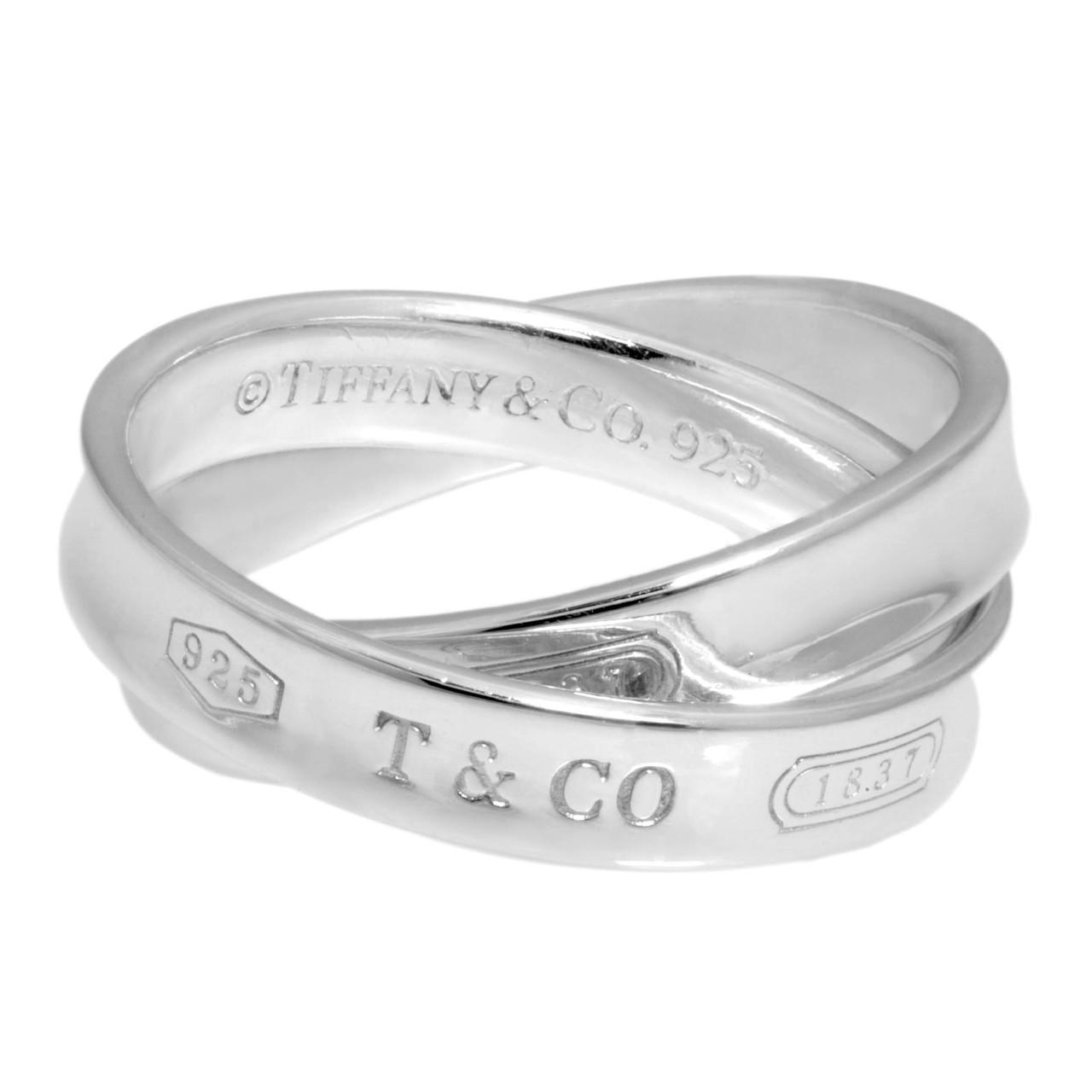 3de442ab1 Tiffany & Co. Sterling Silver 1837 Interlocking Circles Ring - modaselle