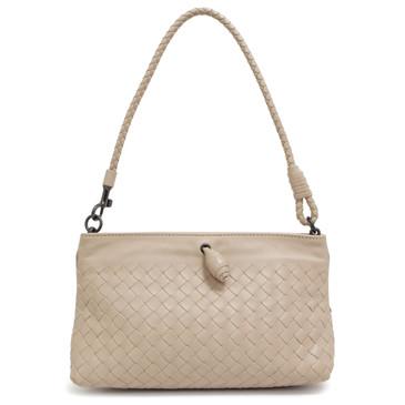 Bottega Veneta Beige Intrecciato Nappa Mini Shoulder Bag