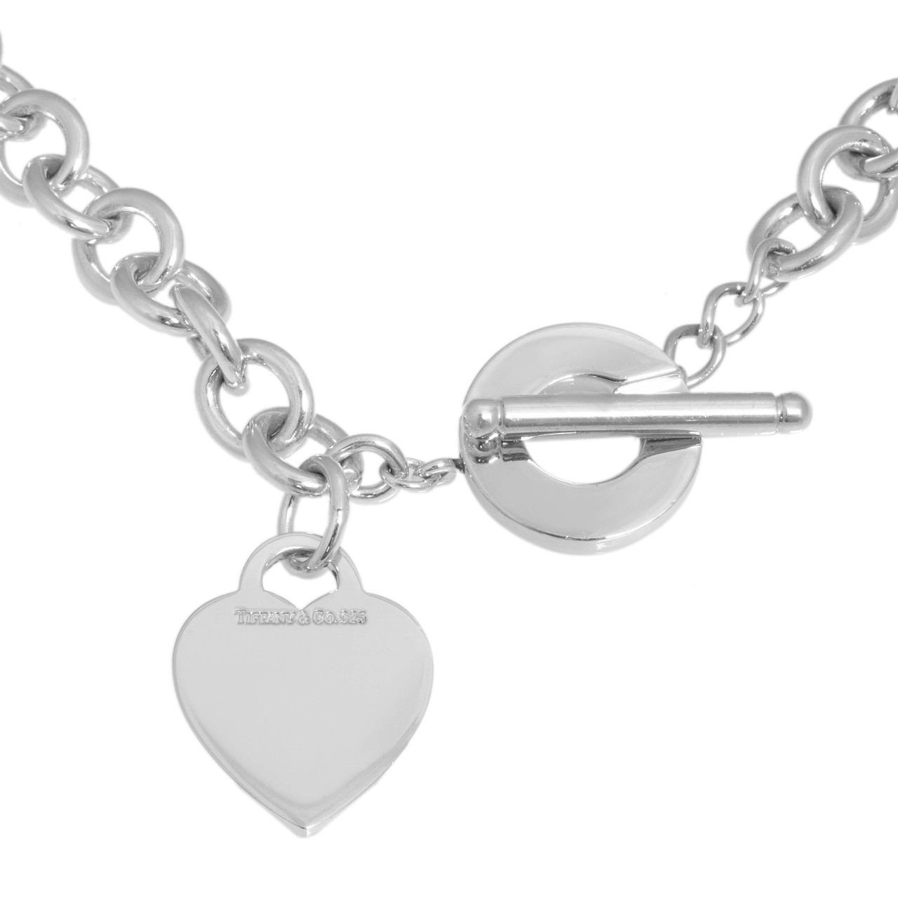 f65d27c10926 Tiffany   Co. Sterling Silver Heart Toggle Necklace - modaselle