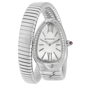 Bvlgari Serpenti Tubogas Single Spiral Diamond Watch SP 35 S