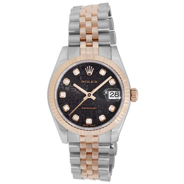 Rolex 18K Everose Gold & Diamond Dial Datejust 31 178271