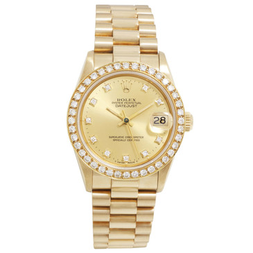 Rolex 18K Yellow Gold 31mm President Datejust 68278