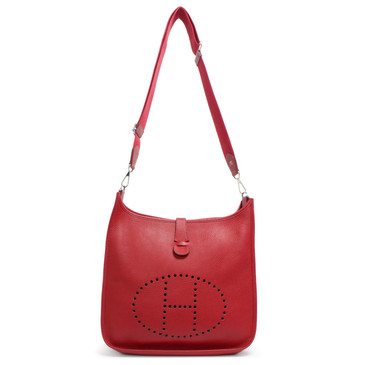 Hermes Rouge Tomate Clemence Evelyne III  GM