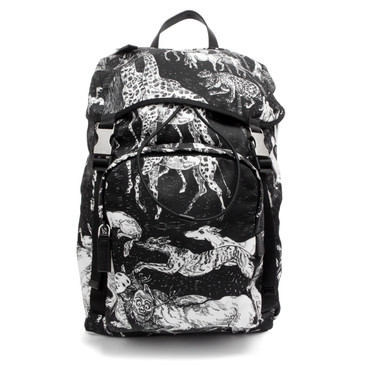 Prada Tessuto Animal Kingdom Backpack