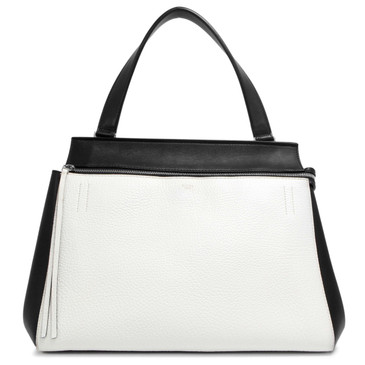 Celine Black and White Medium Edge Bag