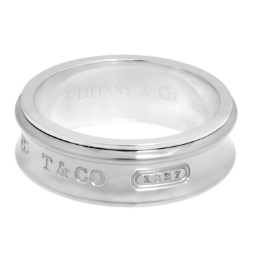 Tiffany & Co. Sterling Silver & Titanium 1837 Ring