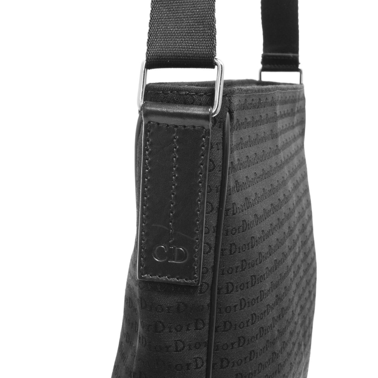 1cb91fec41a Dior Black Canvas Messenger Bag - modaselle