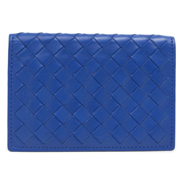 Bottega Veneta Blue Nappa Intrecciato Pocket Organizer