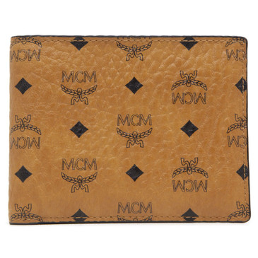 MCM Cognac Visetos Canvas Bifold Wallet