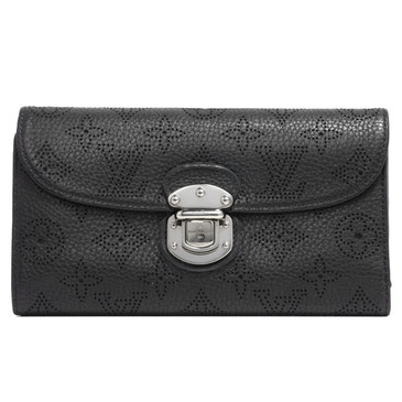 Louis Vuitton Black Mahina Amelia Wallet