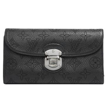 Louis Vuitton Black Mahina Amelia Wallet